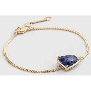 Montres & Bijoux Femme Bracelets Mes-Bijoux.fr Bracelet chaine laiton doré monté d'un lapis bl Doré