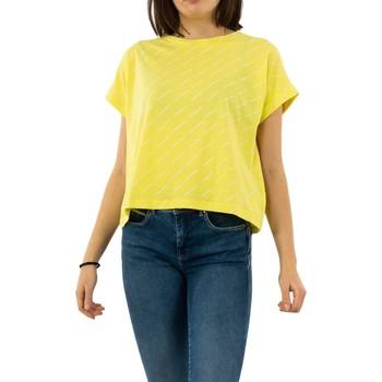 Vêtements Femme T-shirts manches courtes Gertrude + Gaston maria tomorrow print sulfur jaune