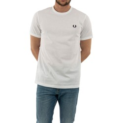Vêtements Homme T-shirts manches courtes Fred Perry m3519 100 white blanc