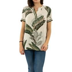 Vêtements Femme Tops / Blouses Geisha 03216-20 000010 - off-white/green combi blanc