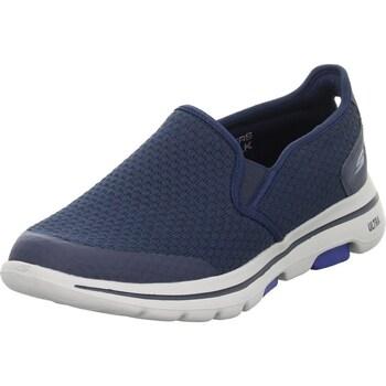 Chaussures Homme Derbies & Richelieu Skechers GO Walk 5 Blanc,Bleu marine