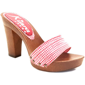 Chaussures Femme Mules Kiara Shoes K801 Rouge