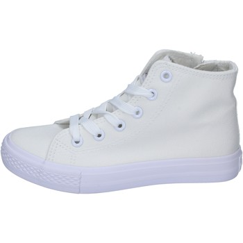 Chaussures Fille Baskets montantes Ellesse sneakers toile blanc