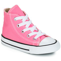 db6bf89956e7f Chaussures Fille Baskets montantes Converse CHUCK TAYLOR ALL STAR CORE HI  Rose