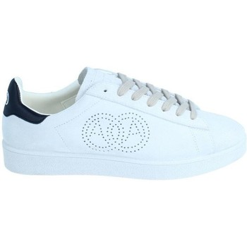 Chaussures Baskets basses Amoa Sneackers Martita à lacets BLANC/BLEU