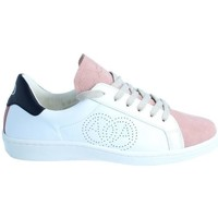 Chaussures Baskets basses Amoa Sneackers LORENA à lacets BLANC/ROSE