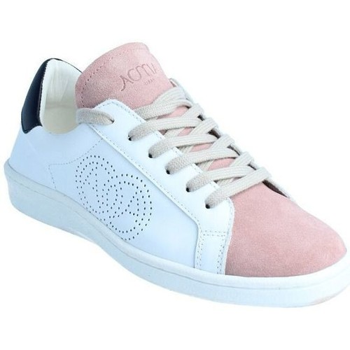 Amoa Sneackers Lorena à lacets BLANC/ROSE - Chaussures Baskets basses 129,90 €.