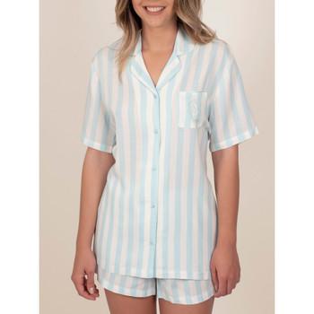 Vêtements Femme Pyjamas / Chemises de nuit Admas Pyjama chemise short Classic Stripes bleu Bleu