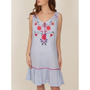 Vêtements Femme Pyjamas / Chemises de nuit Admas Chemise de nuit Mexican Embroidery bleu Bleu