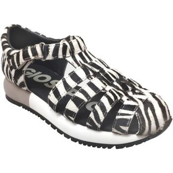 Chaussures Femme Sandales et Nu-pieds Gioseppo Livermore Noir/Blanc cuir