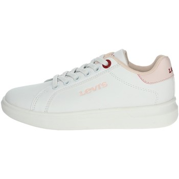 Chaussures Fille Baskets basses Levi's VELL0010S Blanc/rose