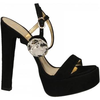 Chaussures Femme Sandales et Nu-pieds Ororo CAMOSCIO+ACCESSORIO nero