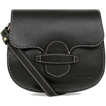 Sacs Femme Sacs Bandoulière Hexagona Sac porté travers  cuir ref_48588 Noir 19*15*6,5 Noir