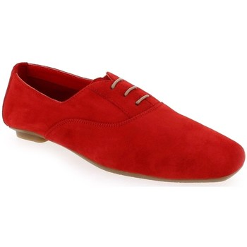 Chaussures Femme Derbies Reqin's Derby HYDRA Peau Rouge Rouge