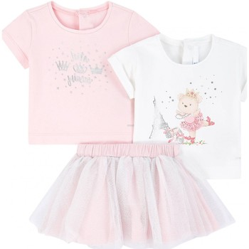 Vêtements Fille Ensembles enfant Mayoral Ensemble 3 pièces bébé LITTLE PRINCESS Rose
