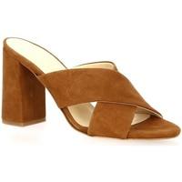 Chaussures Femme Sandales et Nu-pieds Exit Nu pieds cuir velours Cognac
