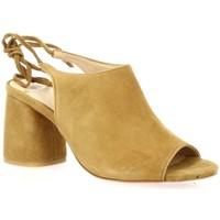 Chaussures Femme Sandales et Nu-pieds Exit Nu pieds cuir velours Camel