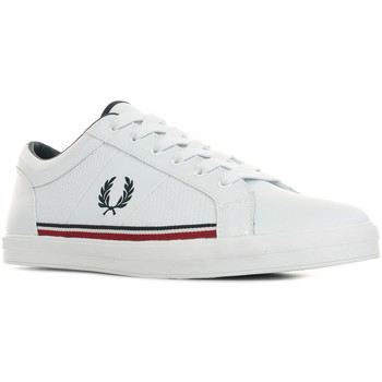 Chaussures Homme Baskets basses Fred Perry Baseline Perf Leather blanc