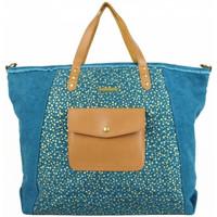 Sacs Femme Cabas / Sacs shopping Lili Petrol Sac cabas  toile bleue et or GL Multicolor