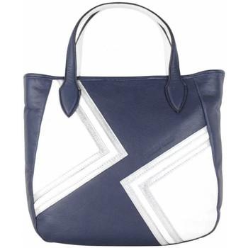 Sacs Femme Sacs porté main Patrick Blanc Sac à main  cuir motif marine et blanc bleu