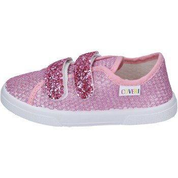 Chaussures Fille Baskets mode Enrico Coveri sneakers textile rose