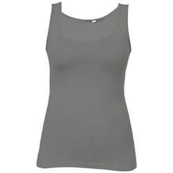 Vêtements Femme Débardeurs / T-shirts sans manche Promodoro Débardeur Jersey simple Femmes gris