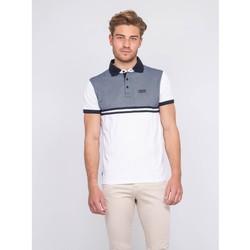 Vêtements Homme Polos manches courtes Ritchie Polo pur coton PACKSON Blanc