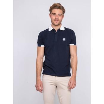 Vêtements Homme Polos manches courtes Ritchie Polo pur coton PAJUGE Bleu marine