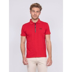 Vêtements Homme Polos manches courtes Ritchie Polo stretch zip PAXTON Rouge