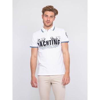 Vêtements Homme Polos manches courtes Ritchie Polo pur coton PERBOL Blanc