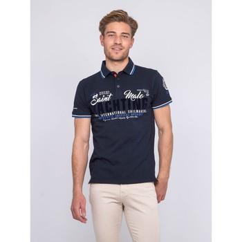 Vêtements Homme Polos manches courtes Ritchie Polo pur coton PERBOL Bleu marine