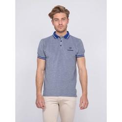 Vêtements Homme Polos manches courtes Ritchie Polo pur coton PIONO Bleu royal