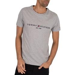 Vêtements Homme T-shirts manches courtes Tommy Hilfiger T-shirt avec logo Core gris