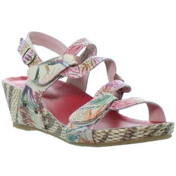 Chaussures Femme Sandales et Nu-pieds Laura Vita Sandales à talons  cuir ref_48786 Rouge rouge
