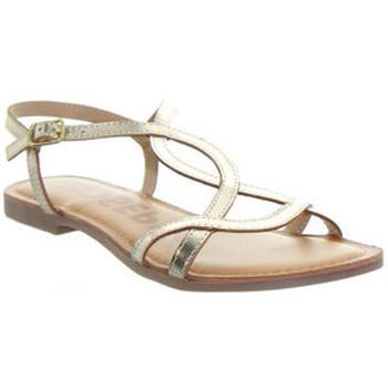 Chaussures Femme Sandales et Nu-pieds Gioseppo Sandales plates  en cuir ref_48737 Doré or