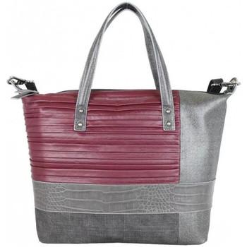 Sacs Femme Cabas / Sacs shopping Patrick Blanc Sac  panache plissé / animal brillant Bordeaux rouge