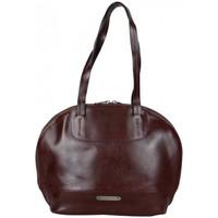 Sacs Femme Sacs porté main Patrick Blanc Sac épaule rond en cuir lisse  marron Multicolor
