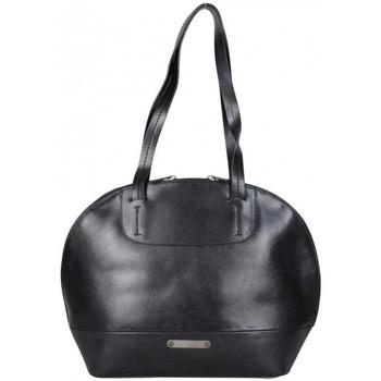 Sacs Femme Sacs porté main Patrick Blanc Sac épaule rond en cuir lisse  noir Multicolor