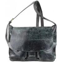 Sacs Femme Sacs porté main Bruno Rossi Grand sac bandoulière besace rabat cuir vieilli  ES Multicolor