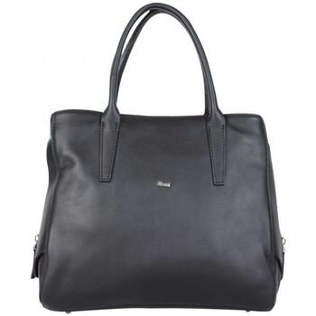 Sacs Femme Sacs porté main Bruno Rossi Sac à main en cuir souple  X412G L Noir Multicolor