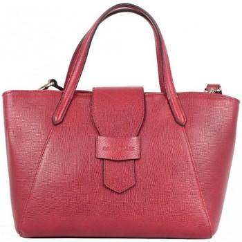 Sacs Femme Sacs porté main Patrick Blanc Sac à main en cuir semi rigide  Trauss Rouge Multicolor