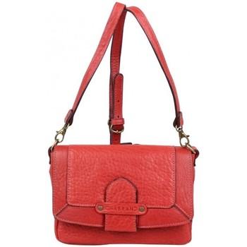 Sacs Femme Sacs Bandoulière Chabrand Mini sac bandoulière en cuir souple à rabat rouge