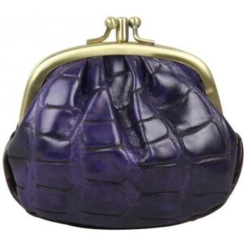 Sacs Femme Porte-monnaie Fuchsia Porte monnaie fermoir  effet croco violet et noir Multicolor