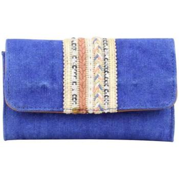 Sacs Femme Portefeuilles Fuchsia Tout en 1 bande déco toile délavée  Milli bleu Multicolor