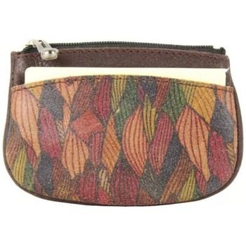 Sacs Femme Portefeuilles Patrick Blanc Porte monnaie  Nouméa cuir motif marron Multicolor