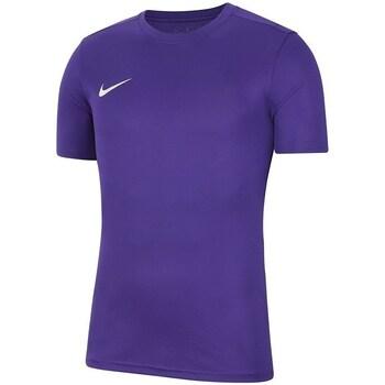 Vêtements Garçon T-shirts manches courtes Nike Dry Park Vii Jsy Violet