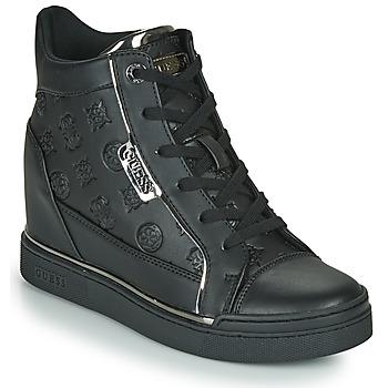 Chaussures Femme Baskets montantes Guess FABIA Noir