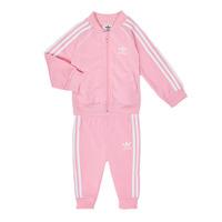 Vêtements Fille Ensembles enfant adidas Originals SST TRACKSUIT Rose
