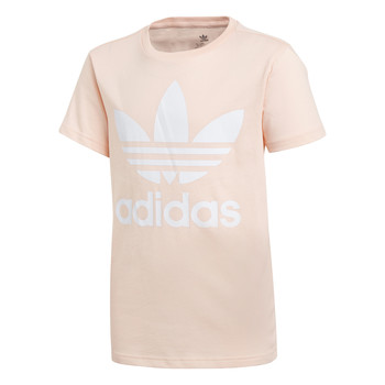 Vêtements Fille T-shirts manches courtes adidas Originals TREFOIL TEE Rose