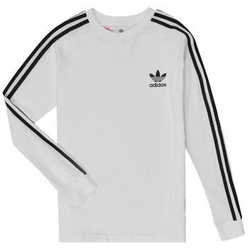 Vêtements Garçon T-shirts manches longues adidas Originals 3STRIPES LS Blanc